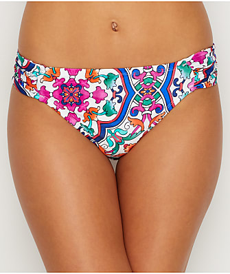 La Blanca Plaza De Espana Shirred Bikini Bottom