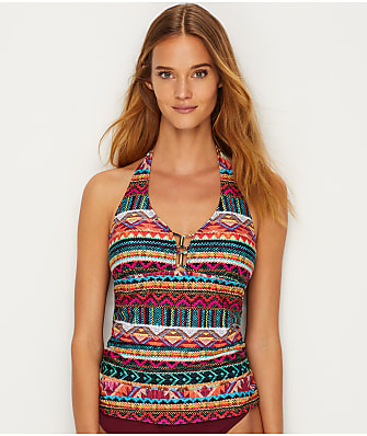 La Blanca Without Borders Halter Tankini Top