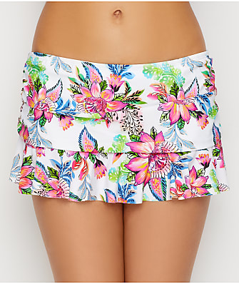La Blanca Botanical Jardin Skirted Bikini Bottom