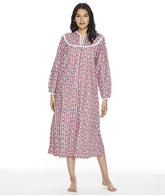 Lanz of Salzburg Plus Size Tyrolean Flannel Nightgown
