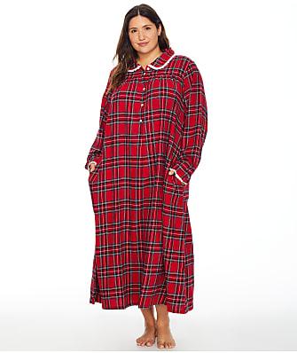 Lanz of Salzburg Plus Size Peterpan Flannel Nightgown