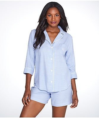 Lauren Ralph Lauren Classic Plaid Woven Shorts Pajama Set