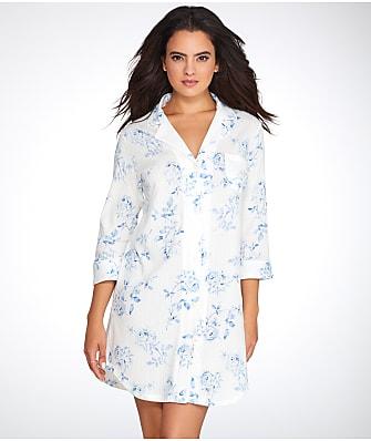 Lauren Ralph Lauren Notch Collar Knit Sleep Shirt