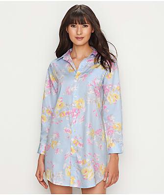 Lauren Ralph Lauren Floral Print Woven Sleep Shirt