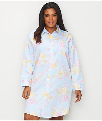 Lauren Ralph Lauren Plus Size Floral Woven Sleep Shirt
