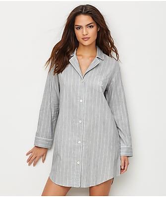 Lauren Ralph Lauren Striped Woven Sleep Shirt