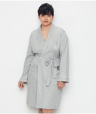 Lauren Ralph Lauren Plus Size Hartford Lounge Shawl Collar Knit Robe