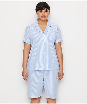 Lauren Ralph Lauren Plus Size Cotton Bermuda Pajama Set