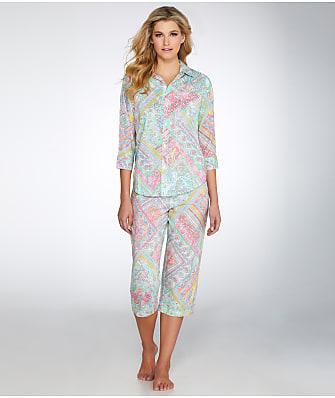 Lauren Ralph Lauren Classic Knit Capri Pajama Set