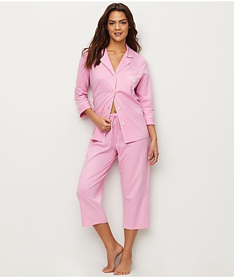 8dc91d942b1 Lauren Ralph Lauren Further Lane Capri Knit Pajama Set