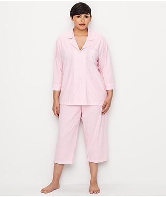 cab2e2835ba34 Lauren Ralph Lauren Plus Size Heritage Essential Knit Capri Pajama Set
