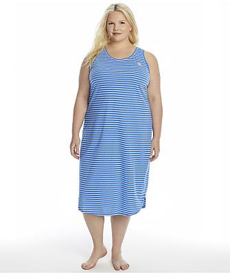 Lauren Ralph Lauren Plus Size Sleeveless Tank Ballet Knit Gown