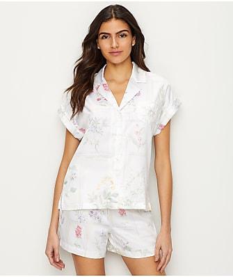 Lauren Ralph Lauren Botany Print Satin Pajama Set