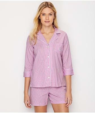 Lauren Ralph Lauren Stripe Knit Pajama Set