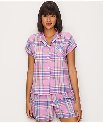 Lauren Ralph Lauren Woven Boxer Pajama Set