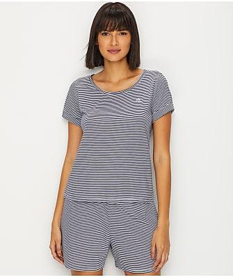 db61505ea0205 Lauren Ralph Lauren Classic Stripe Knit Pajama Set