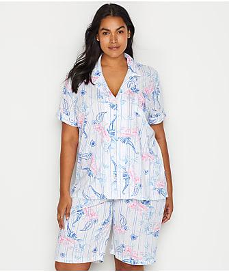 Lauren Ralph Lauren Plus Size Paisley Knit Bermuda Pajama Set