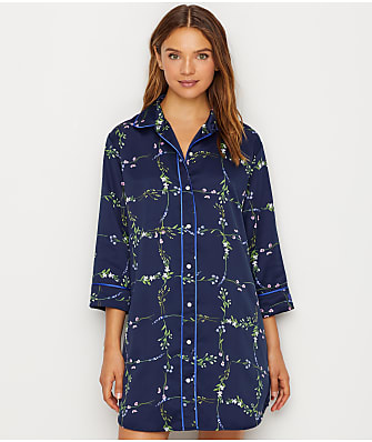 Lauren Ralph Lauren Satin Floral Sleep Shirt