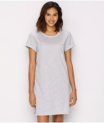 Lauren Ralph Lauren Cotton Knit Striped Sleep Shirt