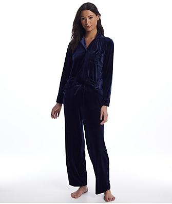 Lauren Ralph Lauren Navy Velvet Pajama Set