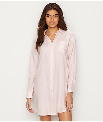 Lauren Ralph Lauren Classic Stripe Woven Sleep Shirt