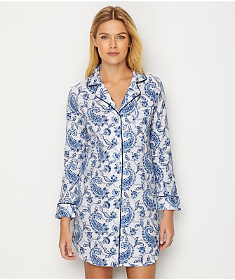 Lauren Ralph Lauren Paisley Print Knit Sleep Shirt