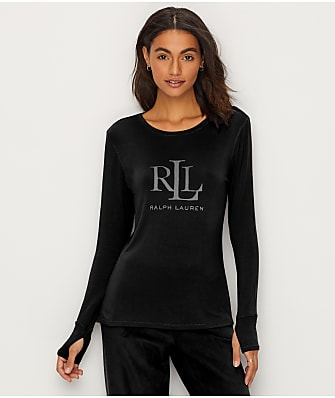 Lauren Ralph Lauren Logo Knit Lounge Top