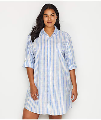 Lauren Ralph Lauren Plus Size Stripe Woven His Shirt