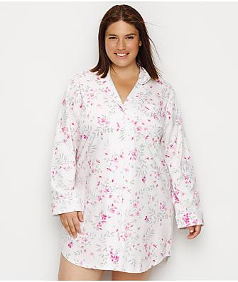 Lauren Ralph Lauren Plus Size Floral Knit Sleep Shirt