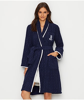 Lauren Ralph Lauren Classic Shawl Collar Cable Robe