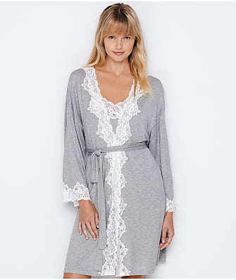 Lauren Ralph Lauren Knit Lace Kimono Robe