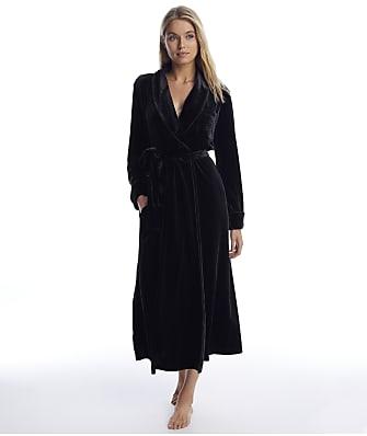 Lauren Ralph Lauren Black Velvet Long Robe