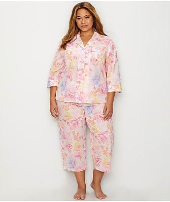Lauren Ralph Lauren Plus Size Classic Woven Pajama Set