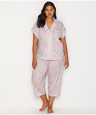 Lauren Ralph Lauren Plus Size Paisley Knit Capri Pajama Set