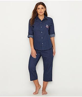 5832f0df2fa0 Lauren Ralph Lauren His Shirt Woven Cropped Pajama Set