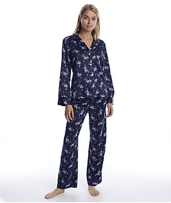 Lauren Ralph Lauren Navy Floral Satin Pajama Set