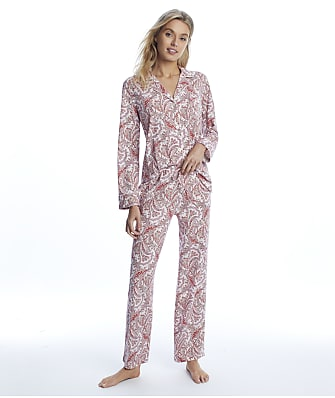 Lauren Ralph Lauren Red Print Knit Pajama Set