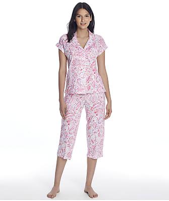 Lauren Ralph Lauren Plus Size Knit Notch Collar Capri Pajama Set