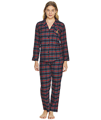 Lauren Ralph Lauren Plus Size Brushed Twill Flannel Pajama Set