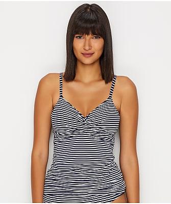 Lauren Ralph Lauren Texture Stripe Shaping Underwire Tankini Top