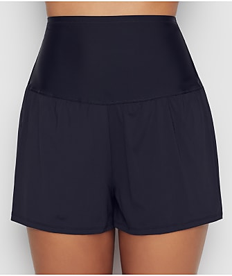Leilani Solid High-Waist Swim Shorts