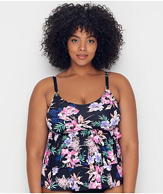 Leilani Plus Size Kauai Garden Underwire Tankini Top