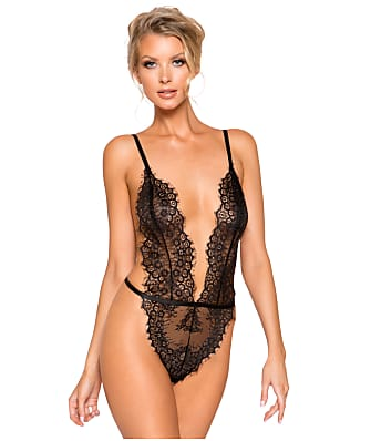 Roma Ultra-Plunge Lace Teddy