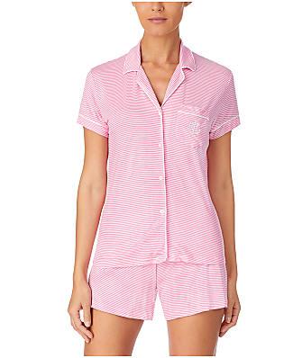 Lauren Ralph Lauren Classic Stripe Knit Pajama Short Set