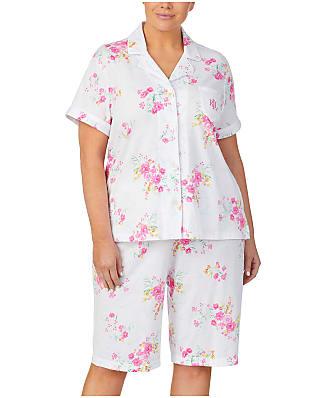 Lauren Ralph Lauren Plus Size Floral Knit Bermuda Pajama Set