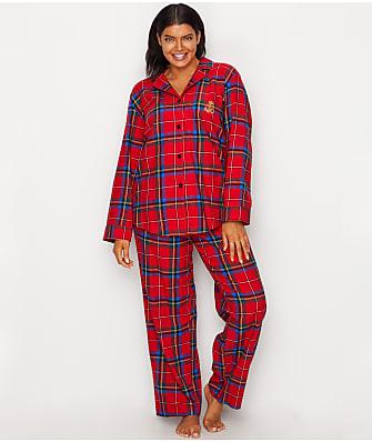 Lauren Ralph Lauren Plus Size Classic Flannel Pajama Set