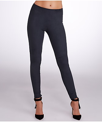 Lyssé High-Waist Medium Control Suede Leggings