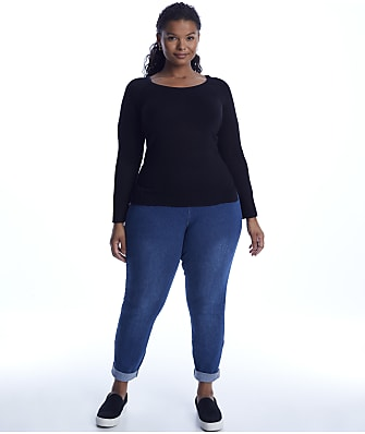 Lyssé Plus Size Medium Control Boyfriend Denim Pants