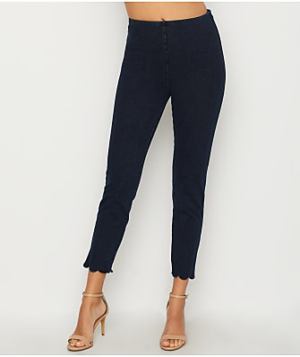 Lyssé Medium Control Scallop Edge Denim Leggings