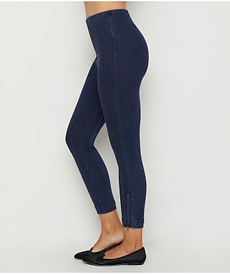 Lyssé Tinted Denim Medium Control Cuffed Ankle Leggings
